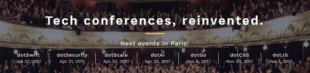 Conférences dot – Tech conferences, reinvented