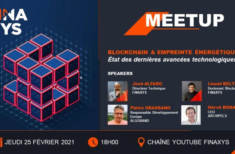 Meetup – Blockchain & Empreinte énergétique